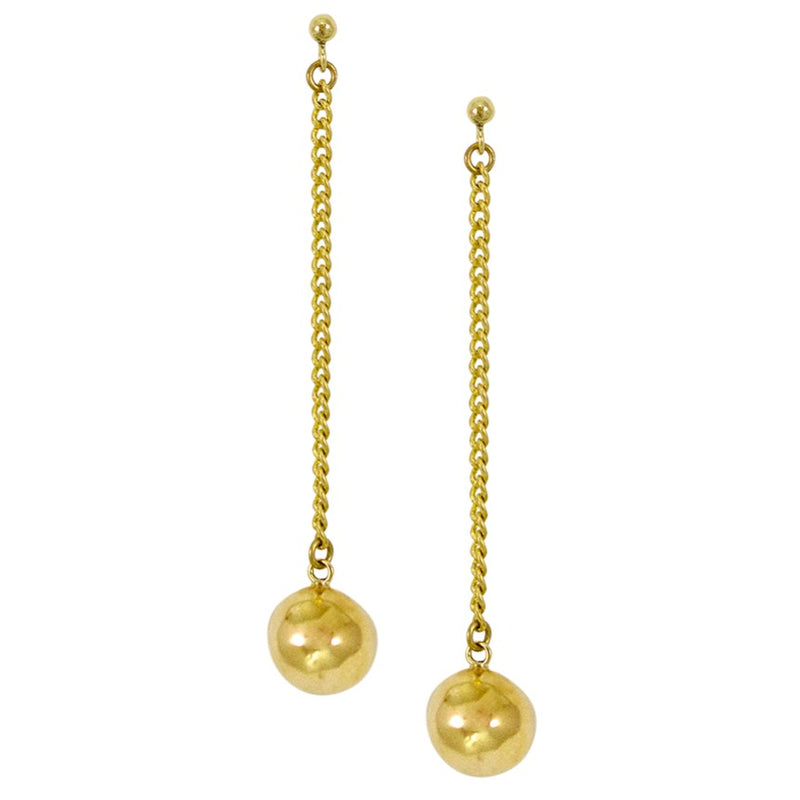 Cherry Drop Brass Earrings