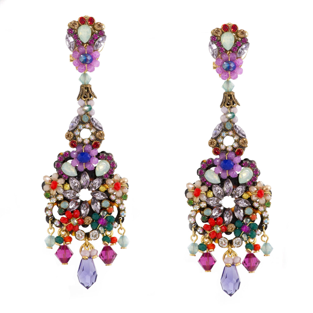 Multi-Colored Drop Earrings by DUBLOS