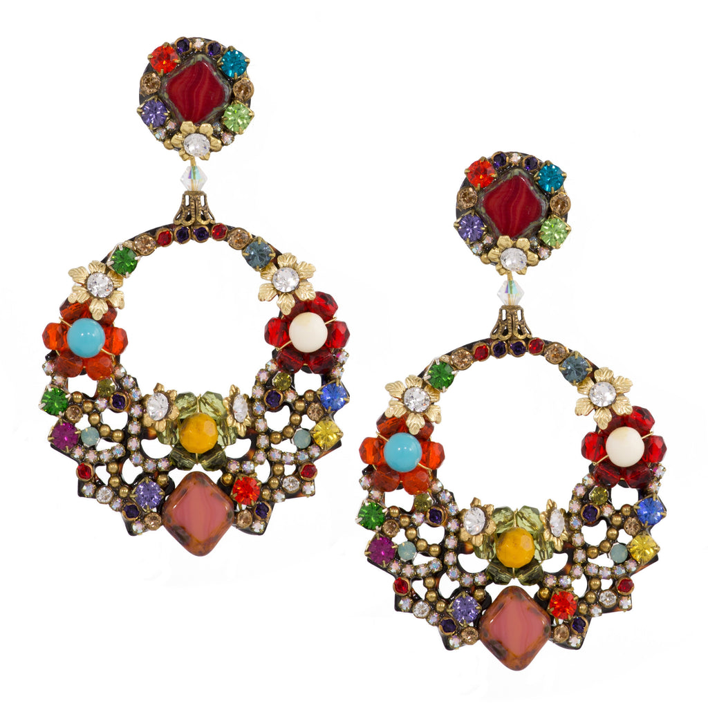 Colorful Circle Earrings by DUBLOS