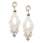 Swarovski White Crystal Pendant Earrings by DUBLOS