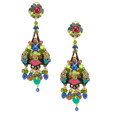 Vibrant Yellow Strass Drop Earrings by DUBLOS