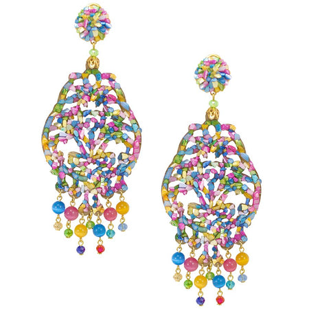 Glittering Crystal Pendant Earrings by DUBLOS
