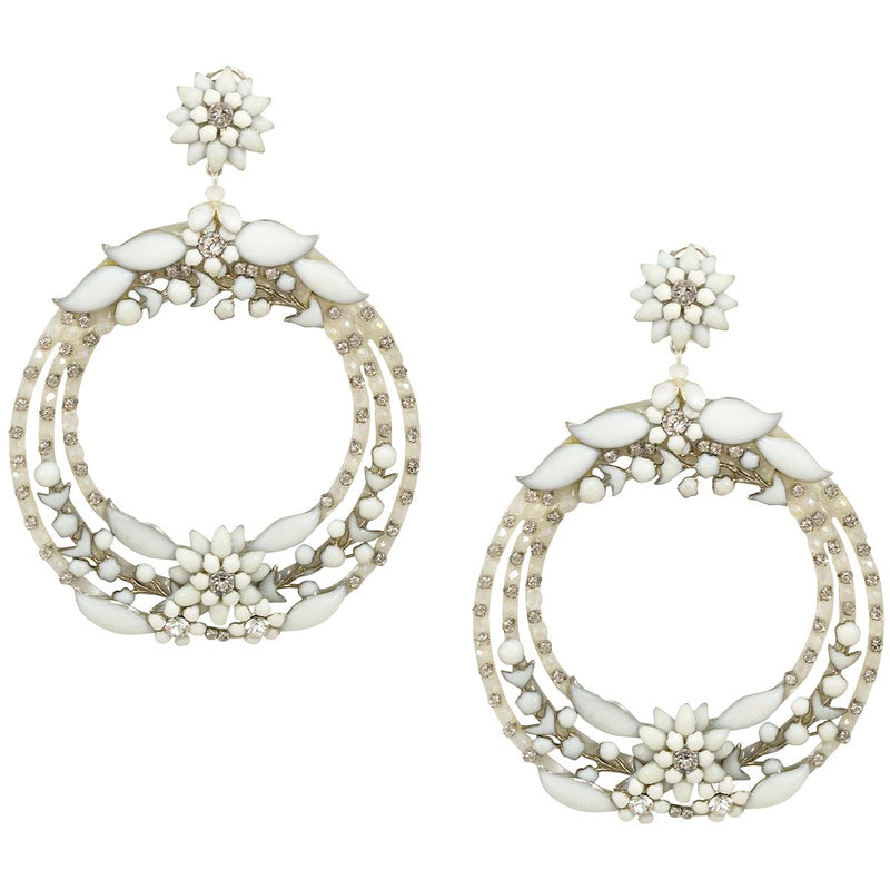 Swarovski Crystal Circle Earrings by DUBLOS