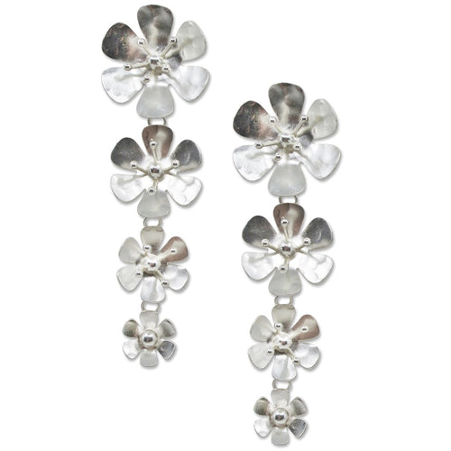 Quadruple Drop Flower Earrings
