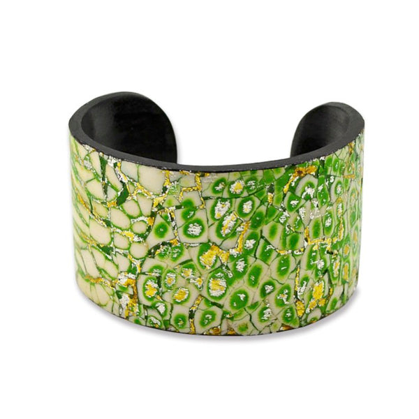 Eggshell and Lacquer Cuff - One Size Fits Most