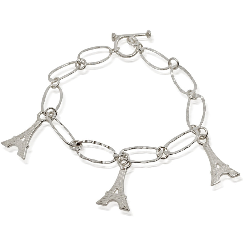Eiffel Tower Charm Bracelet from Taxco, Mexico
