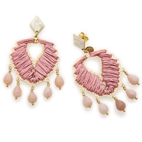 Anita Earrings in Antique Rose