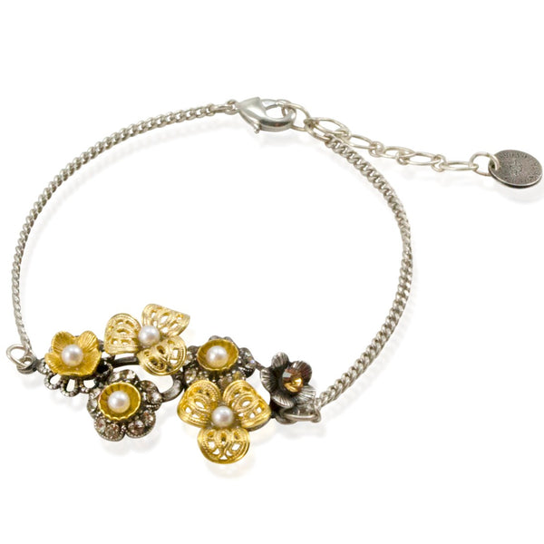 Swarovski and Flower Bracelet by Eric et Lydie