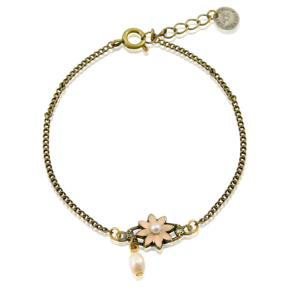 Flower and Pearl Bracelet by Eric et Lydie
