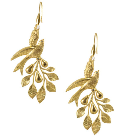 Golden Drop Earrings by Satellite Paris