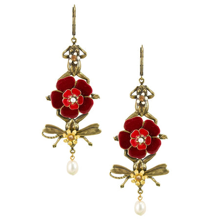 Silk Flower Earrings by Cécile Boccara - White