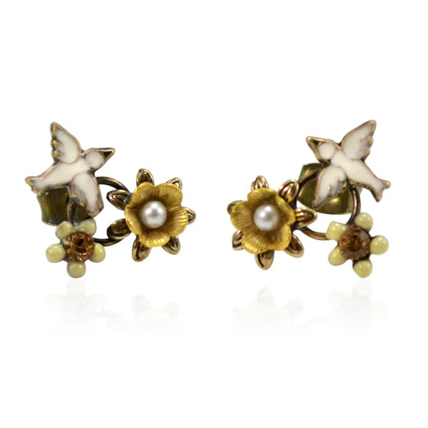 White Sparrow Earrings by Eric et Lydie