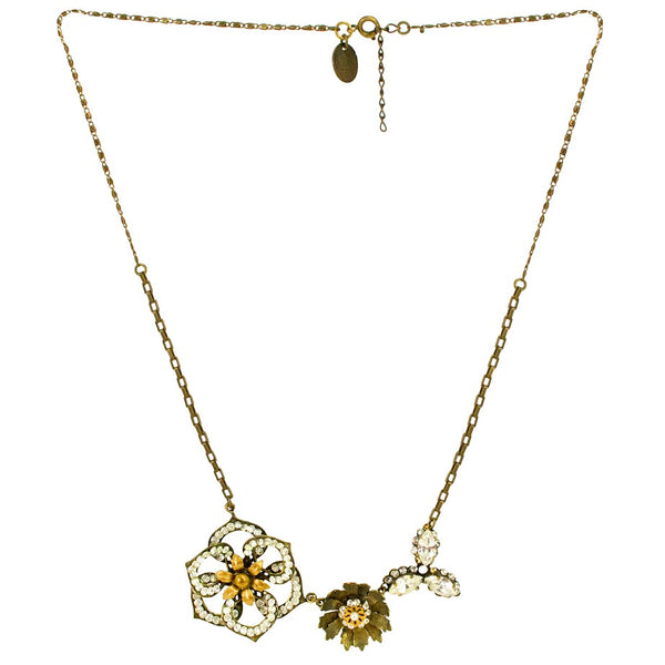 Sparkle Flower Statement Necklace by Eric et Lydie