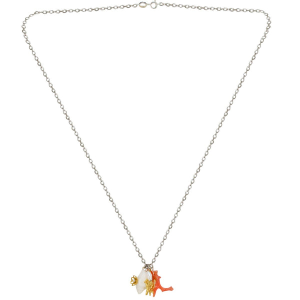 Pendant Shell and Coral Necklace by Eric et Lydie