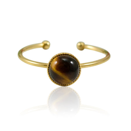 Elegant Open Pearl Ring by Cécile Boccara