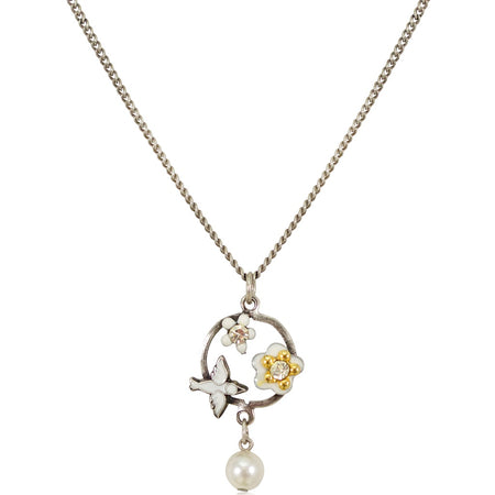 Minas Novas Gold and Silver Rock Crystal Necklace