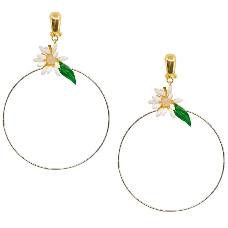 Daisy Circle Earrings by Eric et Lydie - Large