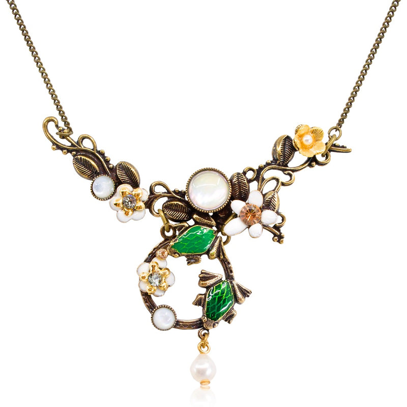 Frogs and Vines Necklace by Eric et Lydie