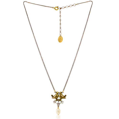 Love Bird Pearl Drop Necklace by Eric et Lydie