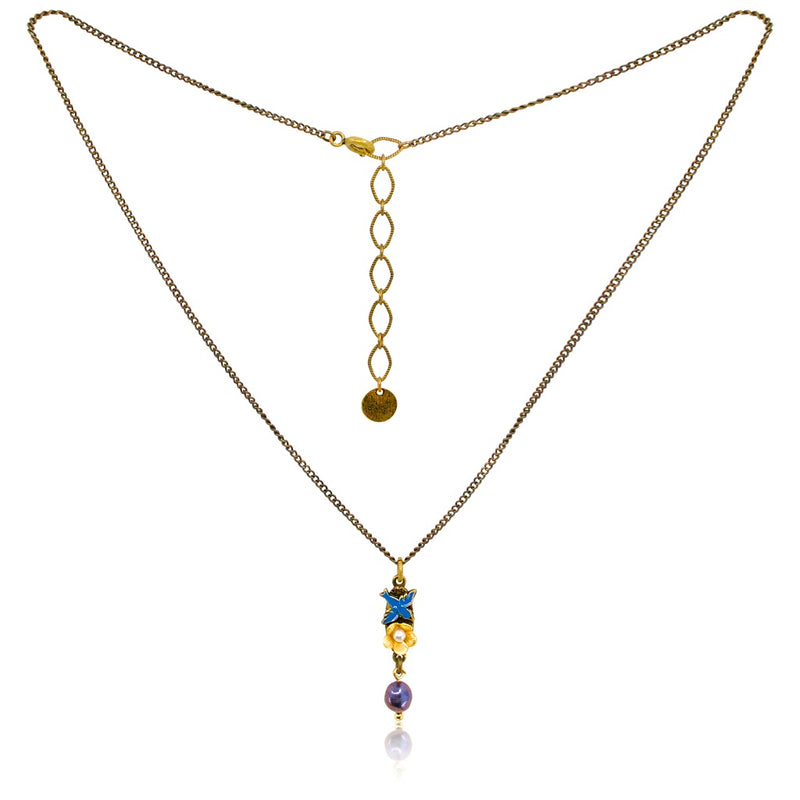 Charming Sparrow Drop Necklace by Eric et Lydie