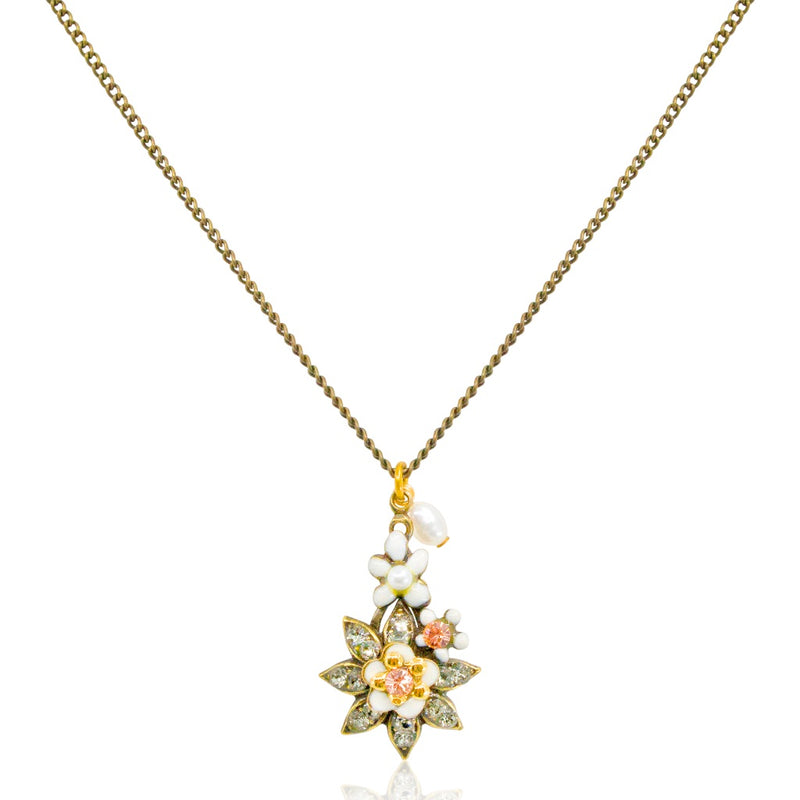 Sparkling Flower Pendant Necklace by Eric et Lydie