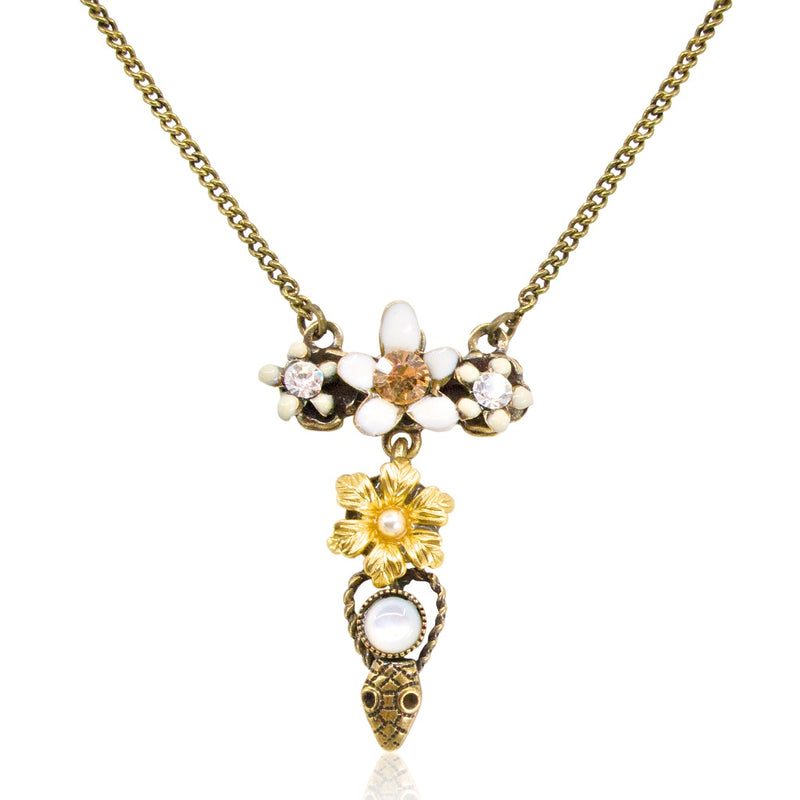 Flower and Serpent Necklace by Eric et Lydie