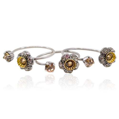 Swarovski Crystal Stackable Ring Set by Eric et Lydie