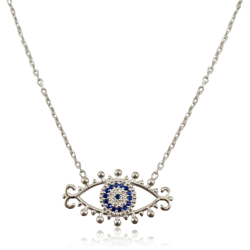 Evil Eye Sterling Silver Pendant Necklace