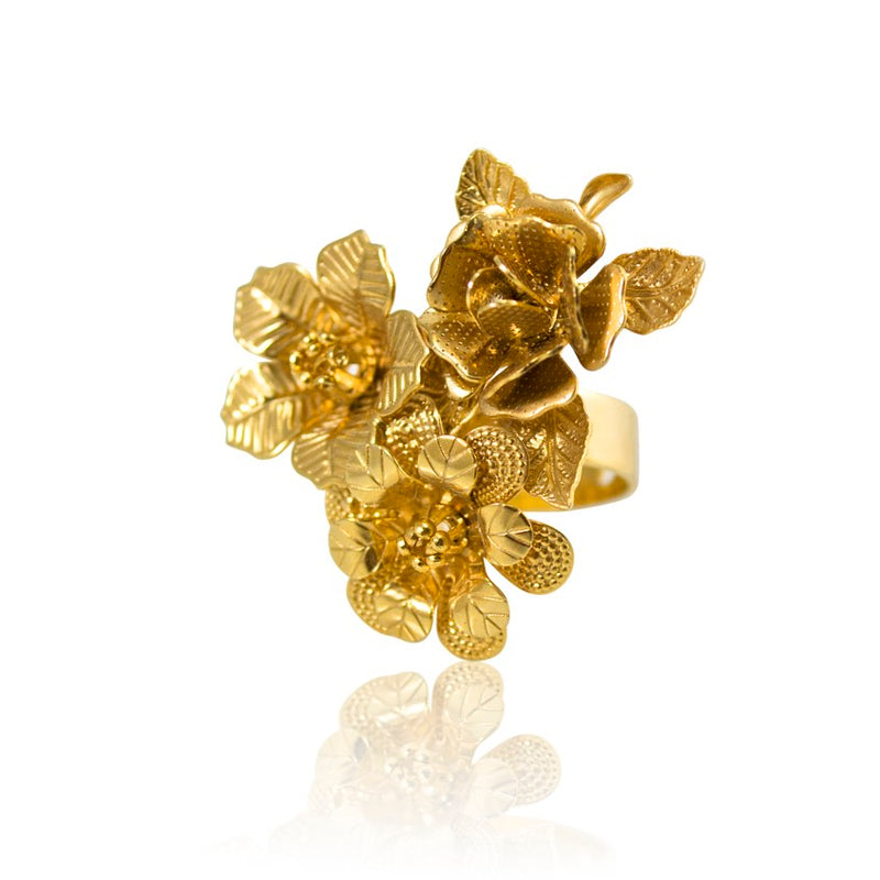 Gold Plated Bouquet Ring