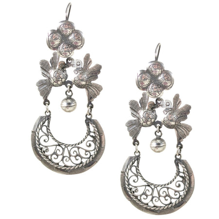Drop White Flower Earrings by Eric et Lydie