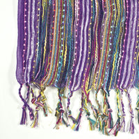 Guatemalan Handwoven Scarf - Royal Purple