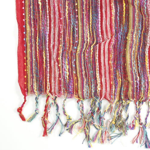 Guatemalan Handwoven Scarf - Red