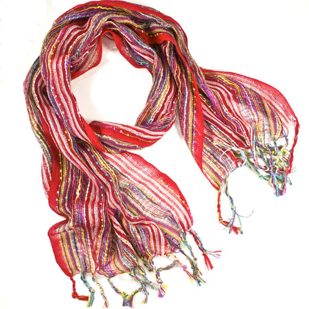 Guatemalan Handwoven Scarf - Orange