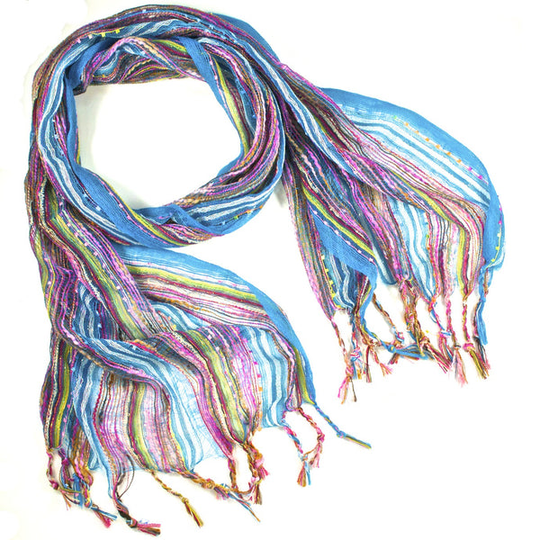 Guatemalan Handwoven Scarf - Turquoise