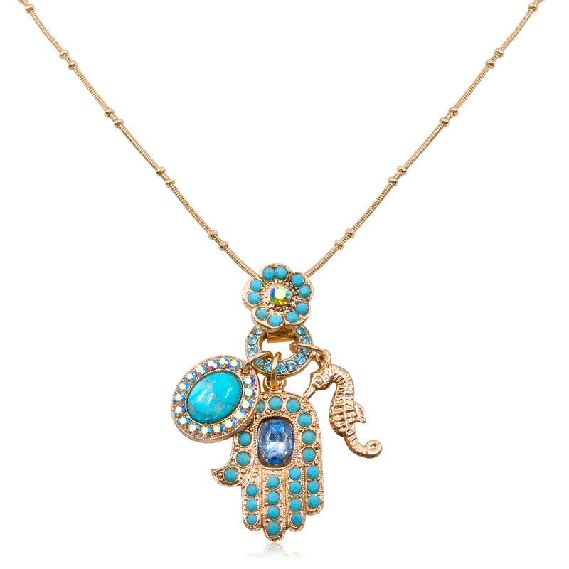 Ocean Hamsa Necklace by AMARO