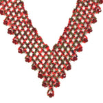 Hand Beaded Necklace - Shimmering Red