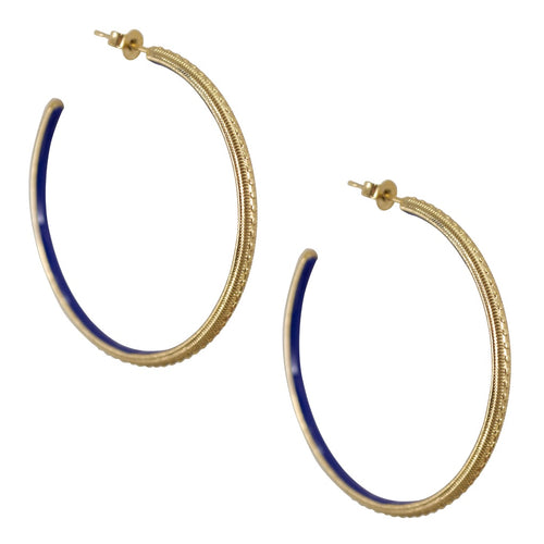 Vintage Inspired Hoop Earrings - Black