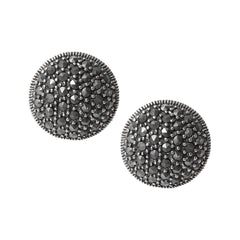 Sterling Silver Button Pierced Earrings - Armenian Jewelry