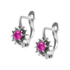 Rose Flower Burst Sterling Silver Earrings - Armenian Jewelry