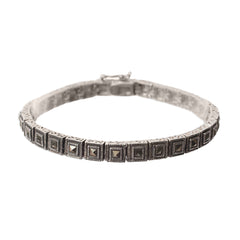 Sterling Silver and Pyrite Bracelet - Armenian Jewelry