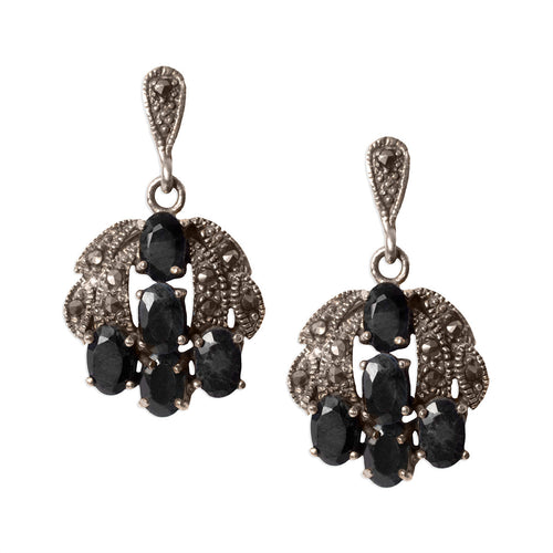 Stone and Sterling Silver Drop Earrings - Armenian Jewelry