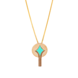 Turquoise Pendant Necklace by Satellite Paris