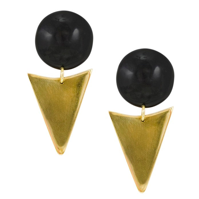 Pyramid Post Earrings