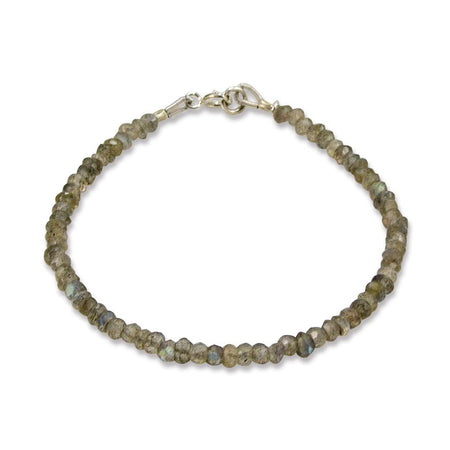 Crystal and Brass Bead Adjustable Cord Bracelet