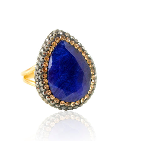 Statement Lapis Lazuli Ring by Satellite Paris