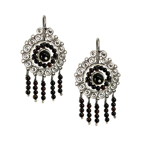 Red Spinel Drop Earrings by Satellite Paris