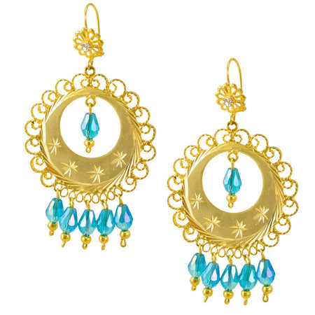 Antique Ottoman-Inspired Turkish Earrings - Ruby