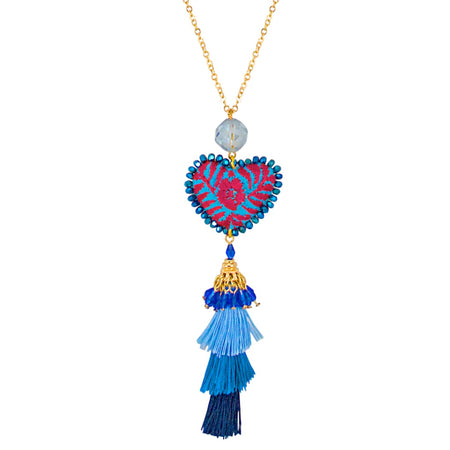 Lapis Lazuli Pendant Necklace by Satellite Paris