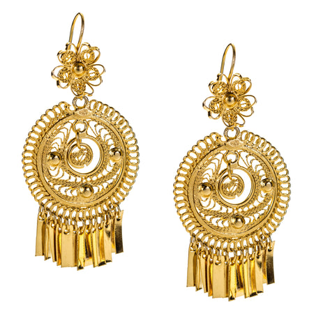 Deco Nouveau Drop Earrings by Eric et Lydie - Green