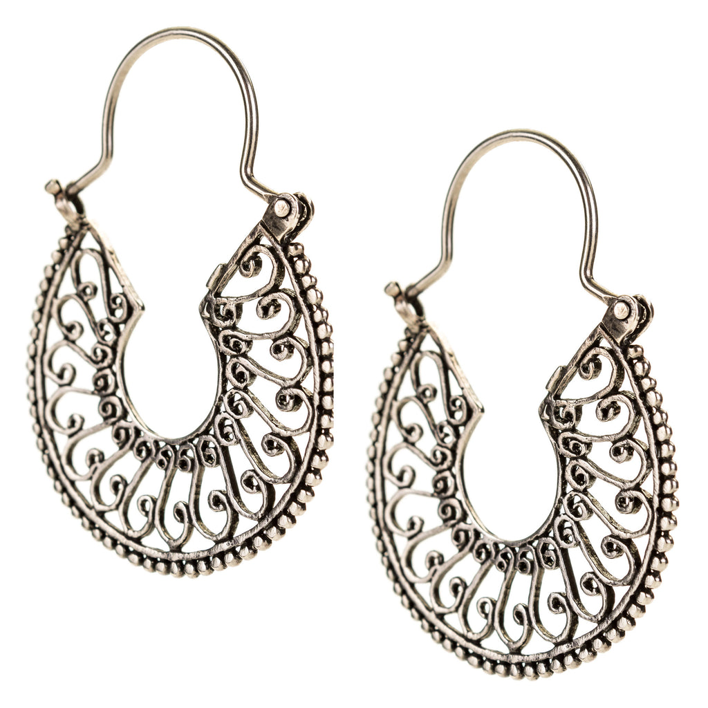 Line Art Earrings : Sterling silver mexican filigree earrings jj caprices
